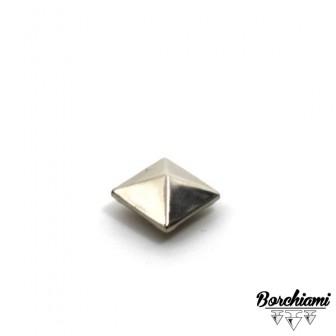 Borchia Piramide Metal (9x9mm) Rivetto