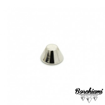 Borchia Tronco di cono Metal (10x6mm) Rivetto