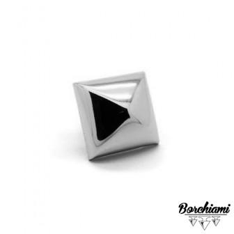 Borchia Piramide Bombata (25x25mm) Fermacampione