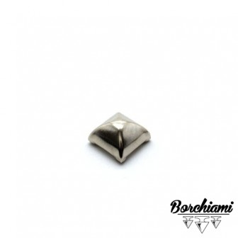 Borchia Piramide Bombata Metal (10x10mm) Rivetto