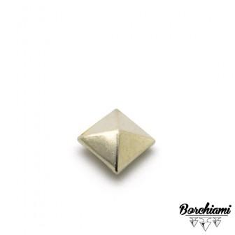 Borchia Piramide Metal (12x12mm) Rivetto
