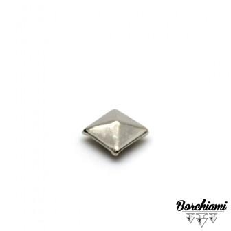 Borchia Piramide Metal (8x8mm) Rivetto