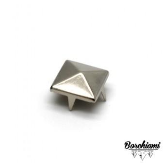 Borchia Piramide Metal (12x12mm) Alette